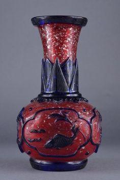 Lot: 438: Chinese Red Peking Glass Vase, Lot Number: 0438, Starting Bid: CA$300, Auctioneer: 888 Auctions, Auction: Asian Antiques & Estates, Date: April 26th, 2012 CEST