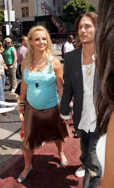 Britney, just before her downfall, and Kevin Federline's mane.
