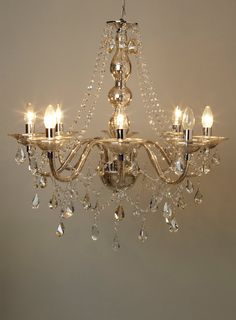 Bathroom Chandeliers Bhs holly willoughby smoke 5lt glass chandelier - ceiling lights