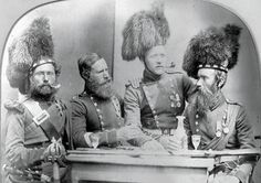 Black Watch soldiers relaxing in Dover shortly after the Crimean War in 1856