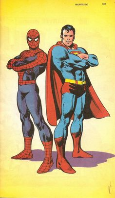 Ross Andru: Spider-Man & Superman.... This I cool because I like Superman and my son like Spider-Man