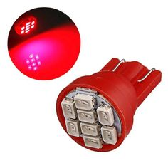 T10 8-SMD Red LED Car Light Wedge Bulb Ultra Super Bright  Worldwide delivery. Original best quality product for 70% of it's real price. Buying this product is extra profitable, because we have good production source. 1 day products dispatch from warehouse. Fast & reliable shipment...