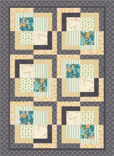 I auditioned new Art Gallery fabric in this quilt pattern~I LOVE to play on PatternJam.com :)