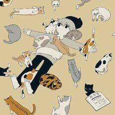 - Illustration, Art, etc - Katzen Art And Illustration, Aesthetic Art, Aesthetic Anime, Anime Kunst, Anime Art, Art Du Croquis, Art Mignon, Arte Obscura, Japanese Artists