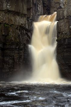 "✯ ""High Force"" waterfall in the North of England - a 71 foot drop, one of the highest waterfalls in the country. ✯"