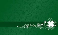 Shamrock on Green Abstract Pattern  Background Wallpaper