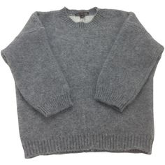 Pre-owned Louis Vuitton Grey Wool Knitwear (1,490 MYR) ❤ liked on Polyvore featuring tops, sweaters, shirts, jumpers, grey, grey top, wool jumper, wool sweaters, wool shirt and gray jumper
