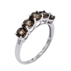 STERLING SILVER 1.35TW SMOKEY TOPAZ RING    Your Price $125.00