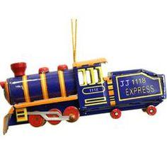 Locomotive Tin Ornament