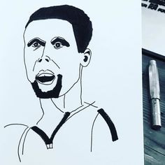 Work copyright  Andrew Oyl Miller oylmiller@gmail.com Society6 Shop - Instagram - Facebook Most Valuable Everything #mvp #nba #stephcurry #basketball #warriors #sports #art #illustration #instaartist #oylmiller #drawing