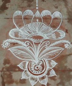 Free Hand Rangoli Design, Small Rangoli Design, Rangoli Kolam Designs, Kolam Rangoli, Flower Rangoli, Beautiful Rangoli Designs, Mehndi Designs, Art Sketches, Art Drawings