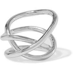Jennifer Fisher Silver-plated ring ($180) via Polyvore featuring jewelry, rings, jennifer fisher, silver, knot ring, twist jewelry, silver plated rings, jennifer fisher rings and jennifer fisher jewelry