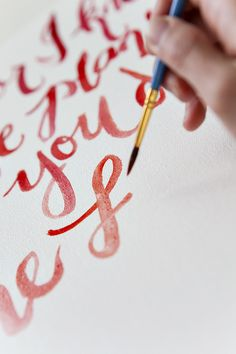Tutorial on canvas quote painting - gorgeous handwriting to try and copy and instructions/recommendations.