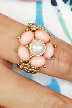 Cabochon Stones Cocktail Ring from en.aura-j.kr // $5.25