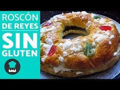 ROSCÓN de Reyes SIN GLUTEN fácil | Receta de roscón de Reyes súper esponjoso - YouTube Sin Gluten, Gluten Free, Bagel, Bread, Youtube, Food, Holiday Desserts, Food Recipes, Sweets