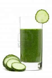 Cucumbers are loaded with vitamins A, B, C, Iodine, Manganese and Sulpher. Great for your intestinal health and skin. They also help with gout and rheumatism.  Cucumber drink smoothis recipe -  7 cups water  Small handful of greens  1 cucumber  2 apples  ice