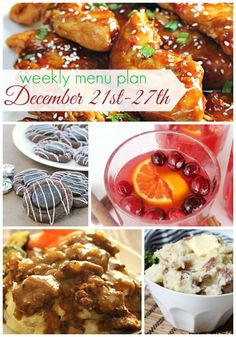 Weekly meal plan from @sixsistersstuff | This weeks menu plan has some of our favorite warm main dishes and sides.