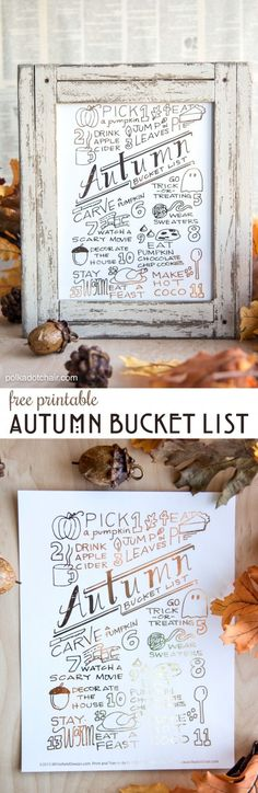 The Ultimate Autumn and Fall Bucket List Guide to October activities - you can download a copy of it on polkadotchair.com