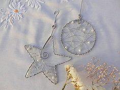 Dekorácie - strieborné vianoce z drôtu 1 - 4818270_