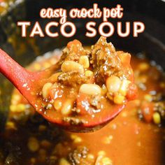 This slow cooker taco soup with ground beef is one of my favorite recipes to make in the slow cooker, especially in the fall and winter months.  Yummy, Please make sure to Like and share this