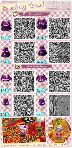 Purple dress QR code