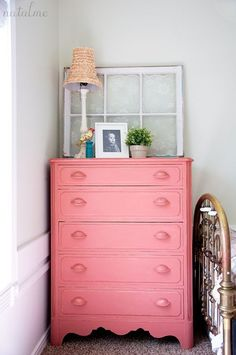 Natalie of Natalme shares how she refinished her nostalgic childhood dresser into a fabulous piece for her daughter using Scandinavian Pink Chalk Paint® decorative paint by Annie Sloan! by Carol's