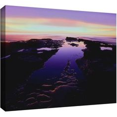 Dean Uhlinger Low Tide Afterglow Gallery-Wrapped Canvas, Size: 18 x 24
