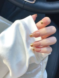 🌟Glam Nails Design🌟Share new nail art idea for fall🍂 Chic Nails, Glam Nails, Stylish Nails, Trendy Nails, Mode Inspiration, Nails Inspiration, Jugend Mode Outfits, Fire Nails, Minimalist Nails