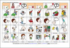 MATERIALES - Tableros de comunicación: Necesidades básicas 1.  Se compone de varios tableros para adultos con dificultades en la expresión. La finalidad es cubrir las necesidades básicas del día a día: alimentación, vestido, emociones, aseo, salidas, acciones…y poder comunicarlas. Puede servir también para al interlocutor para preguntar.  http://arasaac.org/materiales.php?id_material=678