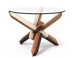 1x21 Round Wooden Puzzle Coffee Table FREE SHIPPING by PRAKTRIK