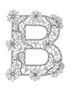 Adult Coloring Pages Letter B Coloring Page by wordsremember