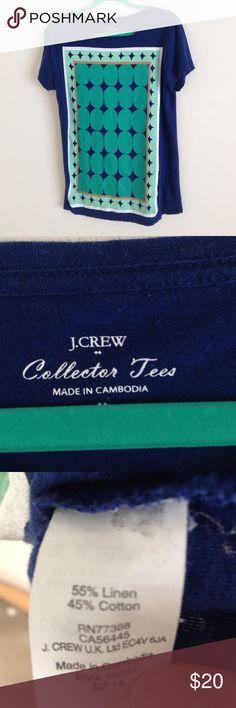 J. Crew Linen Blend Graphic Tee NWOT Tee very soft. J. Crew Tops Tees - Short Sleeve
