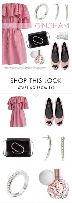 """""""Check Republic: Gingham Dress"""" by littlehjewelry ❤ liked on Polyvore featuring Chicwish, Roger Vivier, 3.1 Phillip Lim, dress, gingham, contestentry, pearljewelry and littlehjewelry"""