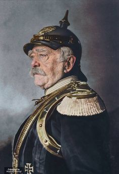 Otto von Bismarck 'Iron Chancellor' of the German Empire at age of 79 1894 colorized by me Colorized Historical Photos, Historical Pictures, Colorized History, Military Art, Military History, Military Uniforms, Otto Von Bismarck, Historia Universal, Second Empire