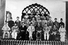 Jinnah with the young Muslim political leaders.