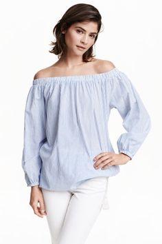 Blusa hombro descubierto | H&M
