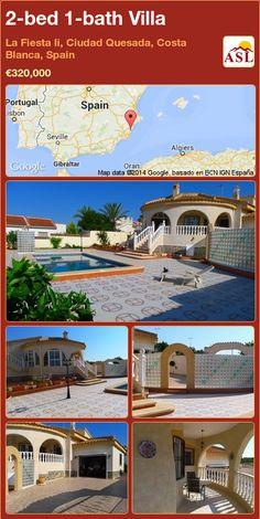 2-bed 1-bath Villa in La Fiesta Ii, Ciudad Quesada, Costa Blanca, Spain ►€320,000 #PropertyForSaleInSpain