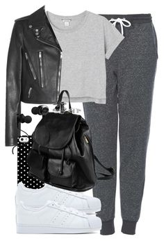 """Untitled #1094"" by she-is-wearing-this ❤ liked on Polyvore featuring Topshop, Monki, Yves Saint Laurent, Uncommon, adidas Originals, PARENTESI and Monster"