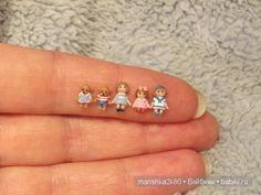 Doll Karen & # s Mini Babies Tiny Dolls, Ooak Dolls, Art Dolls, Polymer Clay Miniatures, Polymer Clay Projects, Miniature Crafts, Miniature Dolls, Dollhouse Dolls, Dollhouse Miniatures