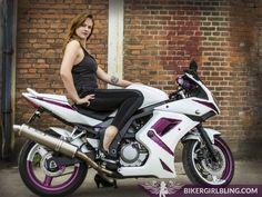 Julie Jensen - A Little Bit Tomboy and a Lot of Feminine Style http://www.bikergirlbling.com/bling-n-it/a-little-bit-tomboy-and-a-lot-feminine-style/