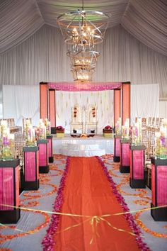 Wedding Aisle Runner but with different colors