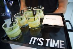 <p> The campaign tagline was incorporated through various aspects of the event design, including drink stirrers and catering trays.</p>