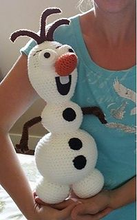This version of an Olaf inspired Stuffy stands approximately 16 inches tall including hair.