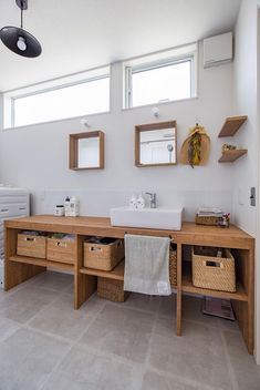 担当物件用に一旦保存 new haircut styles - Haircut Style Wash Stand, Washroom, Bathroom Interior Design, Decoration, Double Vanity, Diy Design, Sweet Home, Flooring, House