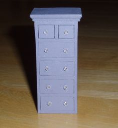 how to: 1/24th scale dresser