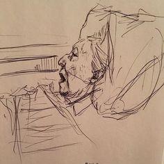 Grandma VanKeersbilck died last week. #artist #draw #drawing #sketch