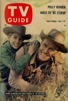 TV Guide cover, Feb. 7, 1959, Johnny Crawford and Chuck Connors