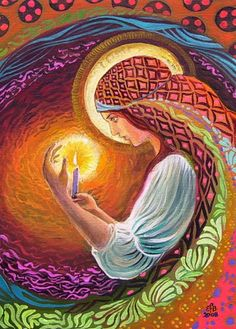 love the painted patterns Emily Balivet - Mythological Goddess Art