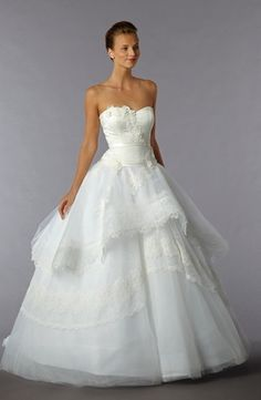Edgardo Bonilla - Sweetheart Ball Gown in Lace