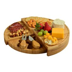 Florence Transforming Bamboo Cheese Board Set w/ 2 Tools